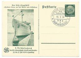 DR Ganzsachen P240 KdF-Flagschiff 1939Sonderstempel - Alemania