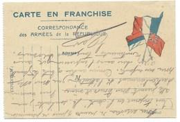 CARTE EN FRANCHISE / CORRESPONDANCE DES ARMEES DE LA REPUBLIQUE /  1915 / 24° COLONIAL - Poststempel (Briefe)