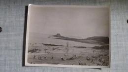 PHOTO ORIGINALE 1934 PLAGE DE SAINT MALO LE GRAND BEY - Plaatsen