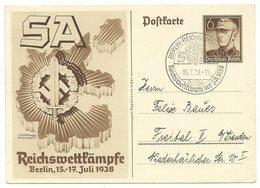 DR Ganzsache P271 Reichswettkämpfe 1938 Sonderstempel - Alemania