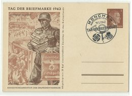 DR Ganzsache P308/02 Tag Der Briefmarke 1942 Sonderstempel MÜNCHEN - Ganzsachen