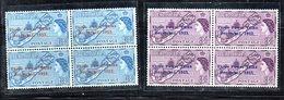 W1480 - BERMUDA 1953 ,  Yvert N. 150/151  Quartina Integra *** - Bermuda