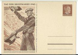 Ukraine Dt. Bes. Ganzsache P4 Tag Der Briefmarke 1942 - Ocupación 1938 – 45