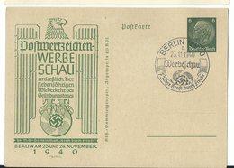 Deutsches Reich Privat-Ganzsache Postwertzeichen-Werbeschau 1940 Sonderstempel - Ganzsachen