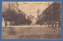AK Litauen Vilnius St. Georgstrasse 1915 Per Feldpost Gelaufen - Litauen