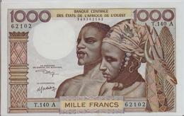 WEST AFRICAN STATES P. 103Ak 1000 F 1960 AUNC - Côte D'Ivoire