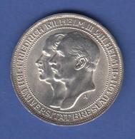 Preußen Silber-Gedenkmünze Zu 3 Mark Universität Breslau 1911 - [ 2] 1871-1918: Deutsches Kaiserreich