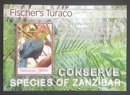 DE23 - Tanzania 2006 Nature Protection In Zanzibar - Fischer's Turaco Bird - Block S/S MNH - Tanzania (1964-...)