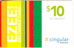 ST. VINCENT & THE GRENADINES - Ezee, X Cingular Recharge Card $10, Used - St. Vincent & The Grenadines