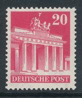 Bizone Bautenserie Enge Zähnung K14, 20 Pfg Brandenburger Tor, Mi.-Nr. 85 WA ** - American/British Zone