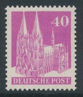 Bizone Bautenserie Enge Zähnung K14, 40 Pfg Kölner Dom, Mi.-Nr. 90 WA ** - American/British Zone