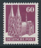 Bizone Bautenserie Enge Zähnung K14, 60 Pfg Kölner Dom, Mi.-Nr. 93 WA ** - American/British Zone