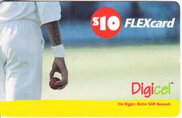 ST. VINCENT & THE GRENADINES - Cricket, Digicel Recharge Card $10, Expdate 02/07/08, Used - St. Vincent & The Grenadines