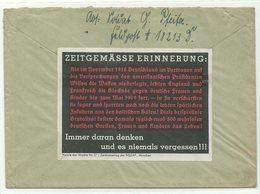 """Deutsches Reich Feldpost-Brief Propaganda-Vignette """"Zeitgemässe Erinnerung"""" 1940 - Briefe U. Dokumente"""