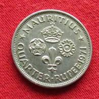 Mauritius 1/4 Quarter Rupee 1971 KM# 36  Lt 154   Mauricia Maurice - Maurice