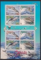 DE23 - Grenada WWF Clymene Dolphin Full Sheetlet MNH SG#5288-5291 - Grenada (1974-...)