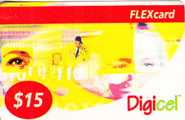 ST. VINCENT & THE GRENADINES - Digicel Recharge Card $15, Exp.date 05/01/04, Used - St. Vincent & The Grenadines