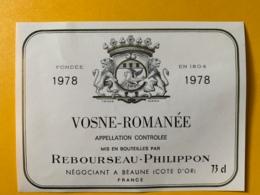 9358 - Vosne-Romanée  1978 Rebouseau-Philippon - Bourgogne