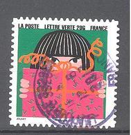 France Autoadhésif Oblitéré N°1196 (Bonne Année) (cachet Rond) - France