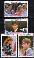 W3167 - ST.VINCENT 1986, Serie Sciolta ROYAL WEDDING   ***  MNH - St.Vincent (1979-...)