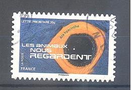 France Autoadhésif Oblitéré N°1158 (Les Animaux Nous Regardent) (cachet Rond) - France