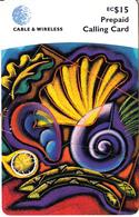 ST. VINCENT & THE GRENADINES - Artwork, C&W Prepaid Card EC$15, Used - San Vicente Y Las Granadinas