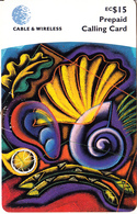 ST. VINCENT & THE GRENADINES - Artwork, C&W Prepaid Card EC$15, Used - St. Vincent & The Grenadines