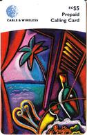ST. VINCENT & THE GRENADINES - Artwork, C&W Prepaid Card EC$5, Used - San Vicente Y Las Granadinas