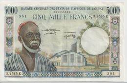 WEST AFRICAN STATES P. 704Km 5000 F 1965 AUNC - Senegal