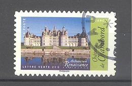 France Autoadhésif Oblitéré N°1114 (Architecture De La Renaissance En France) (cachet Rond) - France