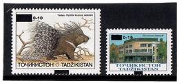 "Tajikistan.2011 Ovp,, 0-10,, On Fauna 1993 V:25.00  Ovpt ""0-15"" On Architecture 1993 V: 35   Michel # 571-72 - Tadschikistan"