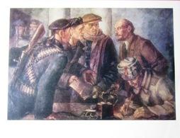 """UdSSR Sowjetrussischen Poster A4 """"Lenin Bereitet Einen Plan Für Einen Revolutionären Aufstand"""" 1979 - Plakate"""