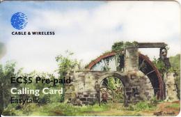 ST. VINCENT & THE GRENADINES - The Aqueduct, Painting/Josette Norris, C&W Prepaid Card EC$5(SVD-38), Used - San Vicente Y Las Granadinas