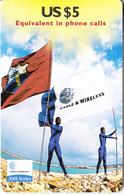 ST. VINCENT & THE GRENADINES - Flag, 2001 Series, C&W Prepaid Card US$5(SVD-34), Exp.date 12/01, Mint - Saint-Vincent-et-les-Grenadines