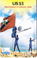ST. VINCENT & THE GRENADINES - Flag, 2001 Series, C&W Prepaid Card US$5(SVD-34), Exp.date 12/01, Mint - St. Vincent & The Grenadines
