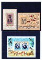 DDR, 1988, 1989, Michel Block 93, 97, 98, Postfrisch/**/MNH, V. Hutten, Müntzer, Brehm - Blocks & Kleinbögen