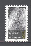 France Autoadhésif Oblitéré N°1011 (Objets D'art, Renaissance En France) (cachet Rond) - France