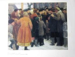 """UdSSR Sowjetisch-Russisches Plakat A4"""" Jeder Will Mit Lenin Reden """" Von Solomin, 1979 - Plakate"""