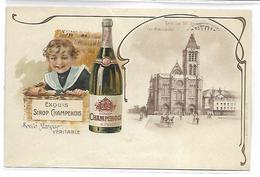 PUBLICITE - Exquis SIROP CHAMPENOIS - Werbepostkarten