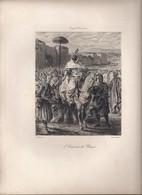 """Gravure """"L'empereur Du Maroc"""" Par A. Lurat, Imp. A. Salmon (E. Delacroix) - Engravings"""