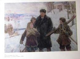 "UdSSR Sowjetisch-Russisches Plakat A4 ""Lenin Mit Kindern V Gorkah"" Von Sahanov, 1979 - Plakate"