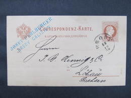 GANZSACHE Brody - Löbau 1883 Josef Perlberger ////  D*35933 - 1850-1918 Imperium