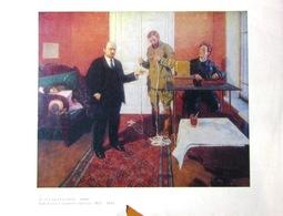 """UdSSR Sowjetisch-Russisches Plakat A4 """"Lenin In Direkter Linie"""" Von Grabar, 1979 - Plakate"""