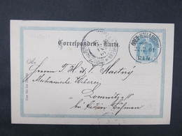 GANZSACHE Ober Hollabrunn - Lomnitz Lomnice 1901 ////  D*35936 - Briefe U. Dokumente