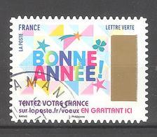 France Autoadhésif Oblitéré N°1499 (Timbres De Voeux) (cachet Rond) - France