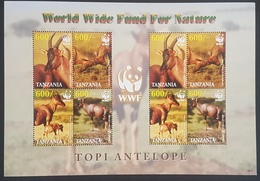 DE23 - Tanzania 2006 Worldwide Nature Protection - Jimela Topi Antelope, Animal, Fauna - Full Sheetlet MNH - Tanzania (1964-...)