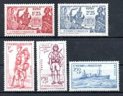 Saint-Pierre Miquelon Y&T 189**, 190**, 207** - 209** - St.Pierre & Miquelon