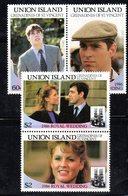 W3201 - UNION GRENADINES ST VINCENT 1986, Serie ROYAL WEDDING   ***  MNH - St.Vincent (1979-...)