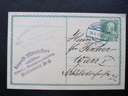 GANZSACHE Wullersdorf - Wien 1914 Leopold Mitterfellner  ////  D*35941 - 1850-1918 Imperium
