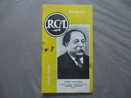 RCA DISQUES SUPPLEMENT N° 7   8 PAGES PIERRE MONTREUX A DIRIGE LA VERSION INTEGRALE D'ORPHEE ET EURYDICE - Musique & Instruments
